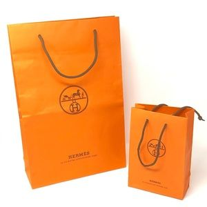 HERMÈS Shopping bags Lot of 2 Small Large